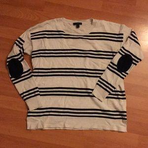 J crew striped sweater 100% merino wool
